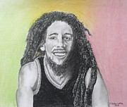 E White Framed Prints - Bob Marley Framed Print by E White