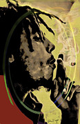 Session Musician Prints - Bob Marley Print by Eleni Mac Synodinos