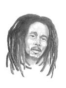 Reggae Music Art Prints - Bob Marley Print by Gordon Van Dusen