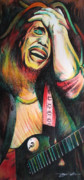 Bob Marley Abstract Prints - Bob Marley in Agony Print by Joshua Morton