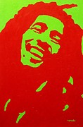 Rastafarian Paintings - Bob Marley by John  Nolan