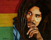 Music Legend Drawings - Bob Marley Legend by Cory Still