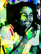 Michael Mixed Media Posters - Bob Marley Poster by Michael Knight
