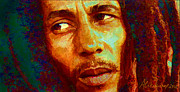 Kingston Digital Art Prints - Bob Marley One And Only Print by Alexandra Jordankova