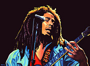 Eric Clapton Metal Prints - Bob Marley Metal Print by Paul  Meijering