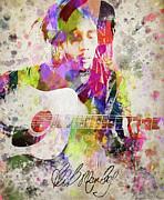 Bob Marley Portrait Print by Aged Pixel