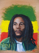 Jamaican Art Paintings - Bob Marley by Theon Guillory