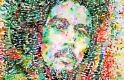 Rasta Prints - Bob Marley Watercolor Portrait.3 Print by Fabrizio Cassetta