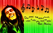 Guitar Legend Posters - Bob Marley Wisdom Poster by Sanely Great