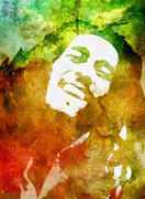 Jamaican Music Paintings - Bob by Mo T