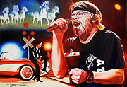 Music Legend Painting Posters - Bob Seger Poster by Joshua Morton