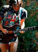Guitarists Painting Originals - Bob Weir TWO by Kevin J Cooper Artwork