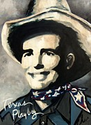 Red White And Blue Paintings - Bob Wills by Cheri Stripling