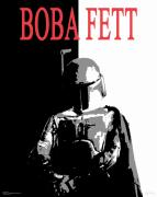 Boba Fett Framed Prints - Boba Fett- Gangster Framed Print by Dale Loos Jr