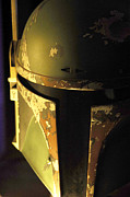 Science Fiction Metal Prints - Boba Fett Helmet 124 Metal Print by Micah May