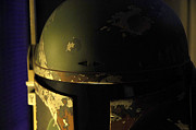 Science Fiction Metal Prints - Boba Fett Helmet 136 Metal Print by Micah May
