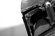 Science Fiction Posters - Boba Fett Helmet 24 Poster by Micah May