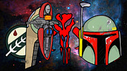 Boba Fett Paintings - Boba Fett icons by Gary Niles