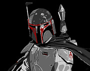 Vader Digital Art - Boba Fett Star Wars pop art by Paul Dunkel