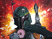 Boba Fett Paintings - Boba with Sprinkles by Tom Carlton
