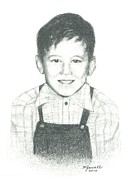 Boy Drawings Posters - Bobby Poster by Barbara Jewell