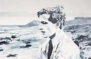 Game Painting Prints - Bobby Fischer in Reykjavik Print by Eckhard Besuden