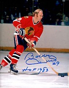 Skate Photo Metal Prints - Bobby Hull Signed Poster Metal Print by Sanely Great