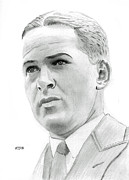 Amateur Drawings Posters - Bobby Jones Poster by Pat Moore