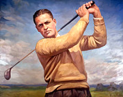 Slam Painting Prints - bobby Jones Print by Tim Gilliland