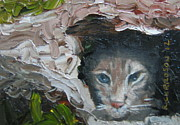 """bobcat "" Paintings - Bobcat by Susan Richardson"