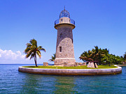 Snorkeling Photos - Boca Chita lighthouse by Carey Chen