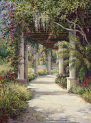Pathway Paintings - Boca Garden Walkway by Laurie Hein