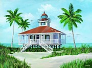 Mccoy Painting Posters - Boca Grand Lighthouse Poster by Robert McCoy