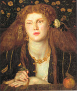 Dante Paintings - Bocca Baciata by Dante Gabriel Rossetti