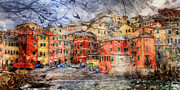 Genoa Digital Art Prints - Boccadasse Print by Andrea Barbieri