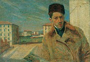 Boccioni Metal Prints - Boccioni Umberto, Self-portrait, 1908 Metal Print by Everett