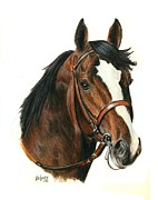 Thoroughbred Race Paintings - Bodemeister by Pat DeLong
