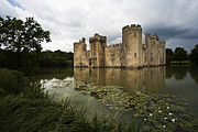 Moated Castle Prints - Bodiam Castle Print by Heiko Koehrer-Wagner