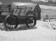 Wagon Wheel Metal Prints - Bodie CA - Praise the Lord and pass the ammunition Metal Print by Christine Till