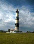 Bodie Island Lighthouse Framed Prints - Bodie Island Lighthouse 2 Framed Print by Mel Steinhauer