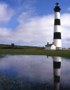 White Lighthouse Prints - Bodie Island Lighthouse Nc Print by Skip Willits