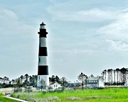 Bodie Island Lighthouse - Outer Banks North Carolina Print by Kim Bemis