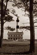 Nc Posters - Bodie Island Lighthouse Poster by Skip Willits