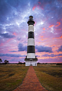 Outer Banks Photos - Bodie Island Lighthouse Sunrise OBX Outer Banks NC - The Gatekeeper by Dave Allen