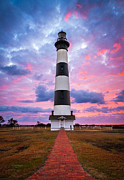 Bodie Island Lighthouse Framed Prints - Bodie Island Lighthouse Sunrise OBX Outer Banks NC - The Gatekeeper Framed Print by Dave Allen