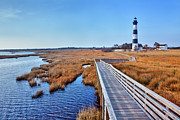Dan Carmichael Art - Bodie Lighthouse Outer Banks North Carolina I by Dan Carmichael