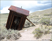 Bodie Out House Prints - Bodie Outhouse 15 Print by Lydia Warner Miller