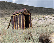 Bodie Out House Prints - Bodie Outhouse 16 Print by Lydia Warner Miller