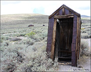 Bodie Out House Posters - Bodie Outhouse 17 Poster by Lydia Warner Miller