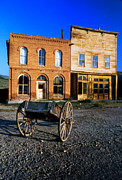 Wooden Wagons Photo Framed Prints - Bodie Storefront Framed Print by Joe Darin